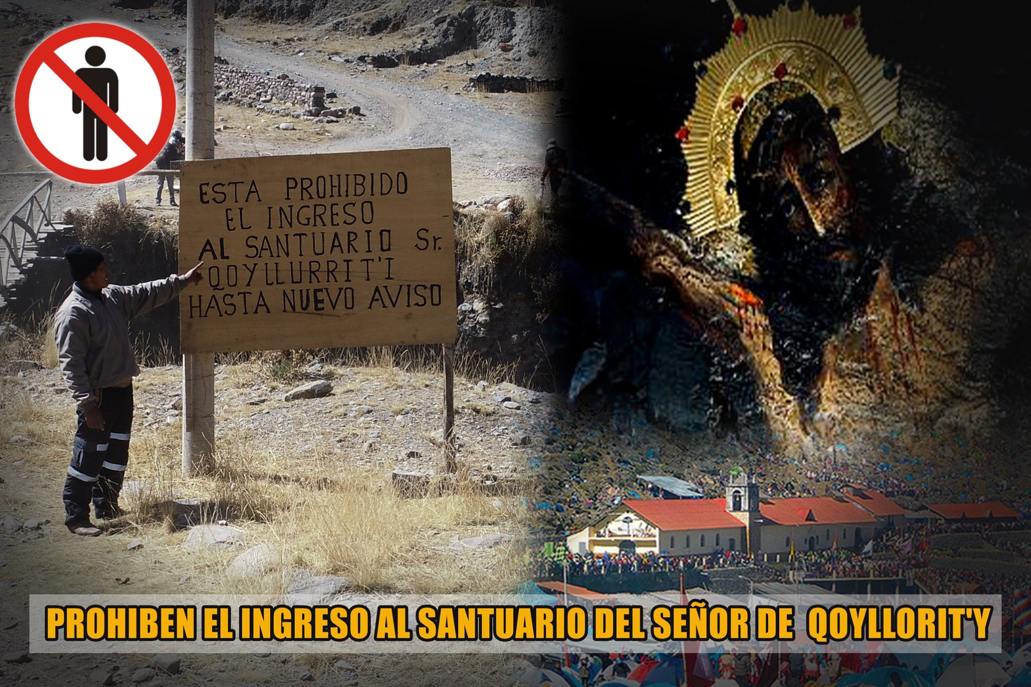 OCONGATE: PROHIBEN EL INGRESO A SANTUARIO DEL SEÑOR DE QOYLLORIT'I POR PREVENCIÓN.