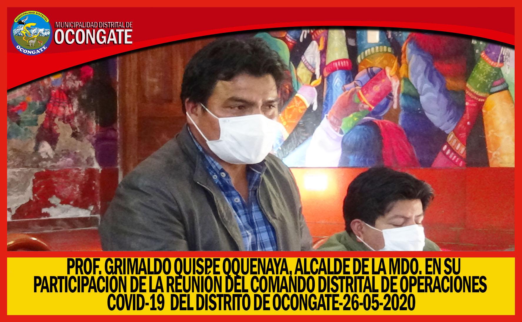AYER SE LLEVO A CABO REUNIÓN DEL COMANDO DISTRITAL COVID-19 EN EL DISTRITO DE OCONGATE.