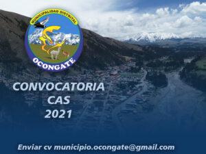CONVOCATORIA CAS 01-2021 MDO