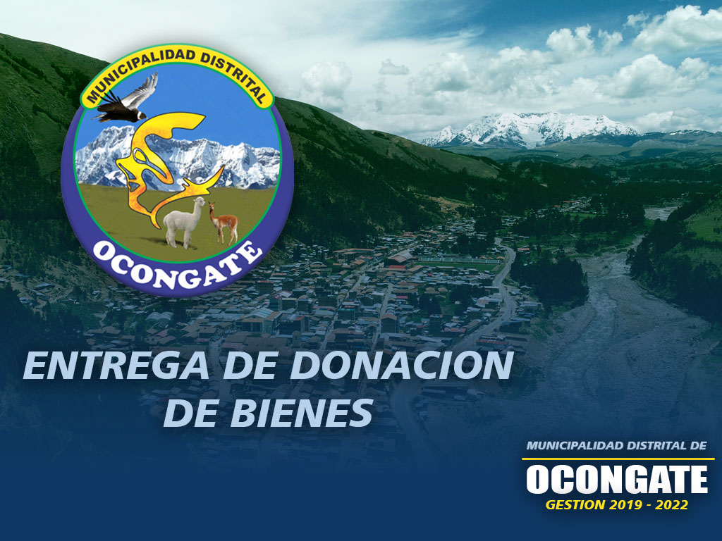 ENTREGA DE DONACION DE BIENES