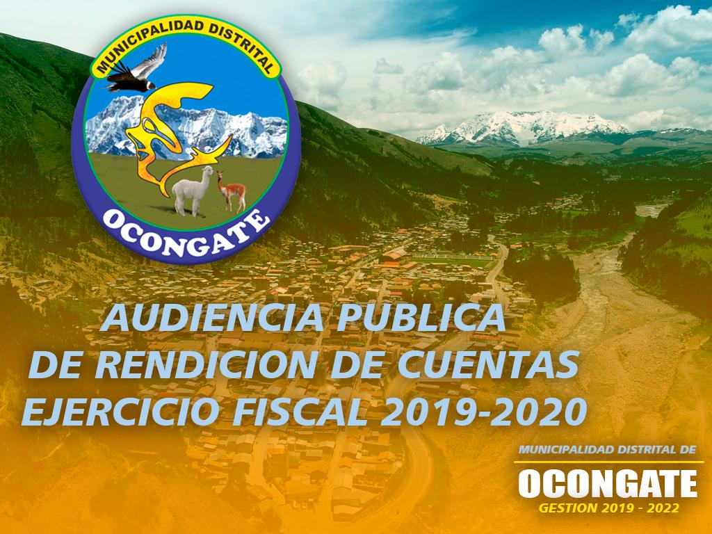 AUDIENCIA PUBLICA MUNICIPALIDAD DISTRITAL DE OCONGATE.